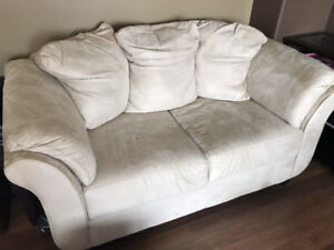 beige color  love seat/ two seater sofa