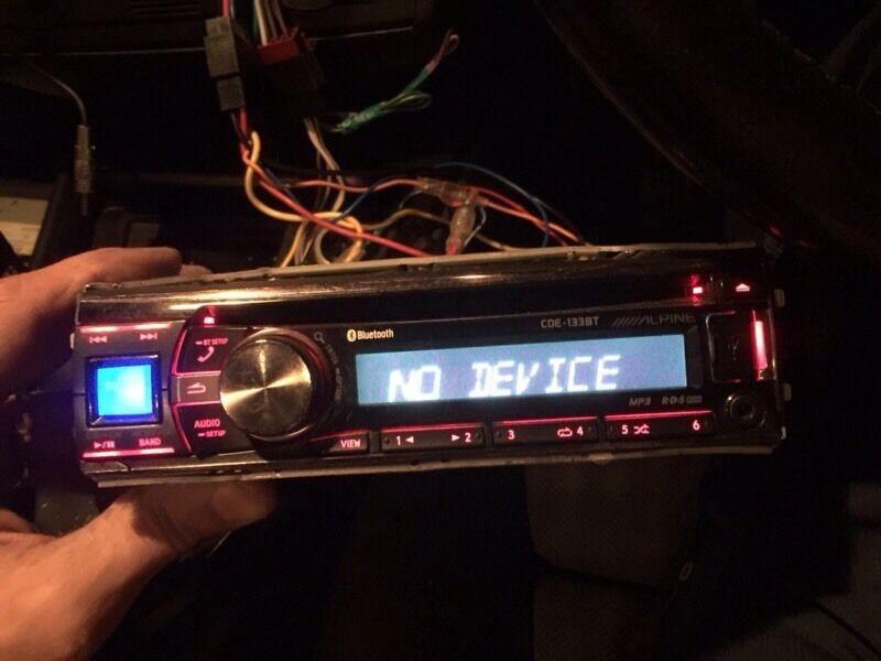 Alpine Bluetooth USB aux CD player no surround