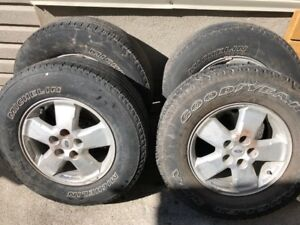 4 Used All Season tires on rims R235/70R16