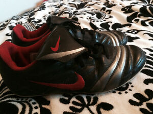 Black and Red Nike Cleats