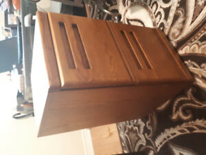Solid oak 2 drawer filing cabinet by Palliser furniture maker.