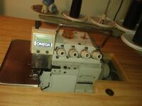 machine a coude over lock 5 fils