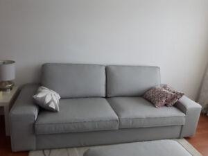 Canapé surdimensionné et repose-pieds av rangement KIVIK