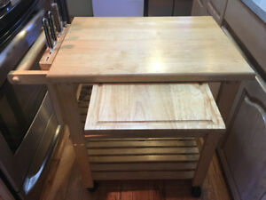 Kitchen hutch Cutting board and knife rack