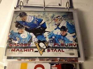 Crosby Staal Malkin and Fluery signed 8x10 Kitchener / Waterloo Kitchener Area image 1