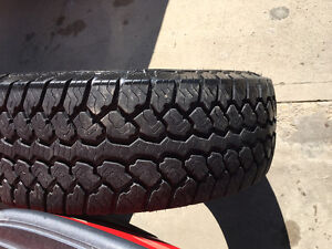 2) BFG rugged trail and 2) motomaster total terrain tires
