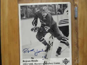 FS: Rejean Houle (Montreal Canadiens) Autographed 8x10 B&W Photo London Ontario image 1