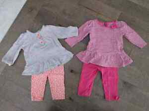 2 kits tunique/leggings 9 mois