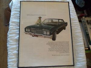 OLD BUICK  CLASSIC CAR FRAMED AD Windsor Region Ontario image 8