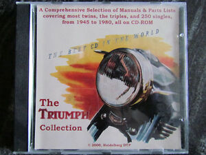 TRIUMPH SHOP MANUALS , PARTS MANUALS 1945- 1980