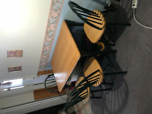 Table with 4 chairs $150 obo