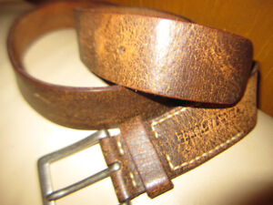 Fossil Fuel Brown Leather Belt  Brass Buckle New And Handbag