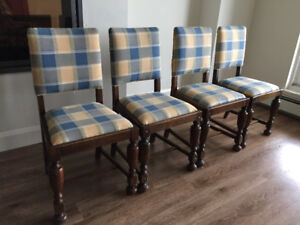 4 antique wooden chairs - $35 takes all