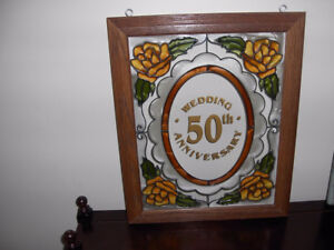 STAINED GLASS HANGING - 50TH ANNIVERSARY