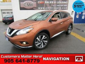 2015 Nissan Murano Platinum  AWD CS BS PREM-AUDIO NAV ROOF 2X-P/