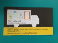F and K Services moving and deliveries