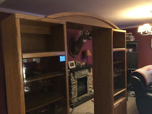 Beautiful oak entertainment centre