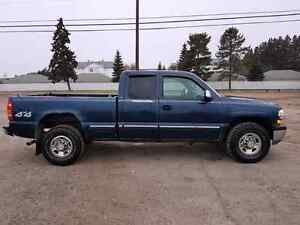 2001 Chevy Silverado 2500 3/4 ton extended cab truck for sale.