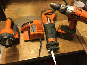 Ridgid Power Tools Set