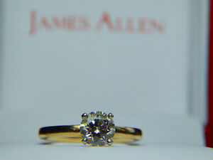 Stunning 0.80 ct VVS1 Diamond Solitaire