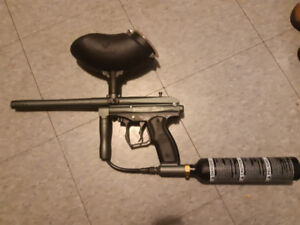 Paintball marker with tank