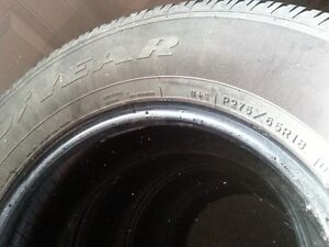 4 Goodyear wrangler -all season- P275-65R18 Peterborough Peterborough Area image 2