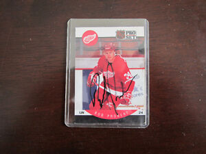 Bob Probert Autographed Hockey Card EX/NM/MINT
