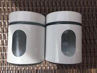 2 X Glass Jars
