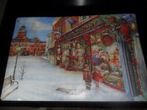 winter/christmas/holidays place mats  vinyl/plastic