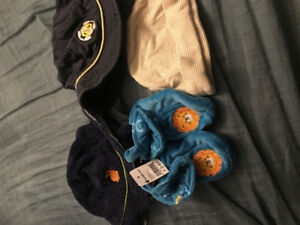 Boy infant hats and slippers