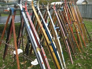 cross country skis, boots, poles