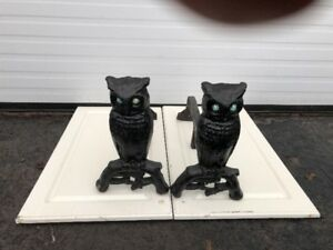 Cast Owl  Fireplace Ends & Grill