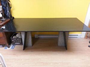 Table de granit noir 38 po x 80 po