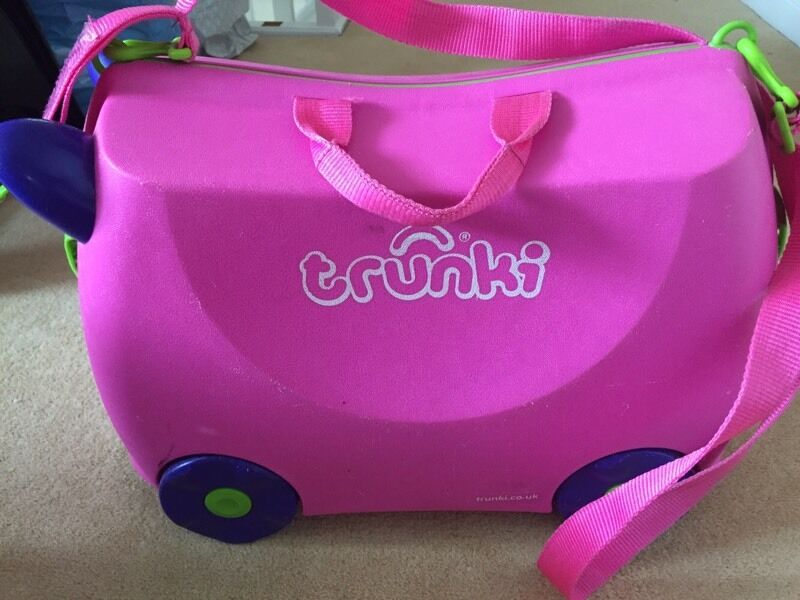 TRUNKI Pink Trixie - Ride on Suitcase for Kids/Children | in ...