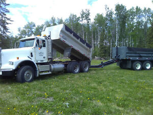 2006 freightliner gravel truck with pup
