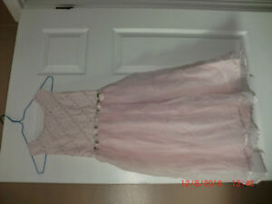 Girls Special Occasion Party Dress, Pink, sleeveless, Size 8