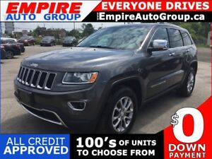 2014 JEEP GRAND CHEROKEE LIMITED * 4WD * LEATHER * REAR CAM * SU