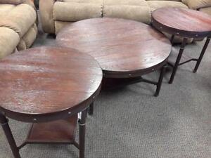 *** USED *** ASHLEY SANDLING COFFEE/END TABLES   S/N:51158493   #STORE223