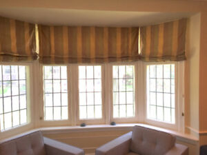 Custom Silk Roman Blinds