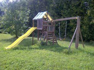 FALL FUN!!!! Wooden Play Structure with slide!!!! ONLY $160.
