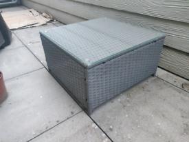 Rattan Table (Glass Top) - Patio Furniture