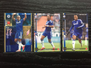 Lot Collection 3 Cartes Soccer Panini Didier Drogba Chelsea 5$