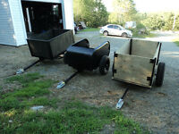 ATV DUMP TRAILERS GREAT FOR AROUND THE CAMP OR HOME
