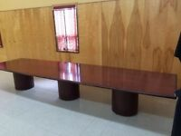 Large Solid Wood Conference Table