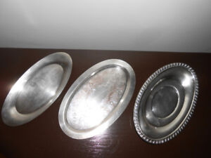 THREE SMALL DISH TRAYS
