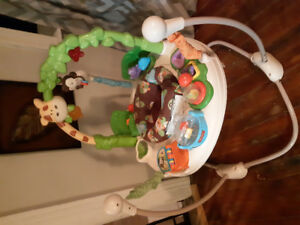 Exersaucer, swing and infant baby chair