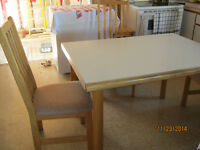 Oak and Melamin kitchen table & small buffet