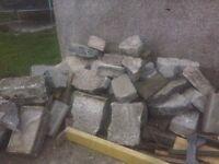 Concrete blocks hardcore for free