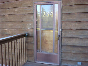 Brown Aluminum Storm Door - REDUCED !
