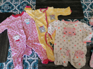 Baby girl clothes lot sleepers 6 month